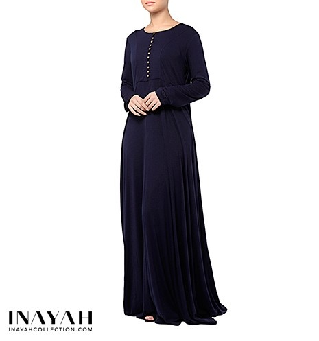 The modest flare of this abaya makes it ideal for maternity wear. The loose fitting will conceal that wonderful bump but still remain modest and beautiful without compromise. This abaya is also suitable for nursing.  www.inayahcollection.com