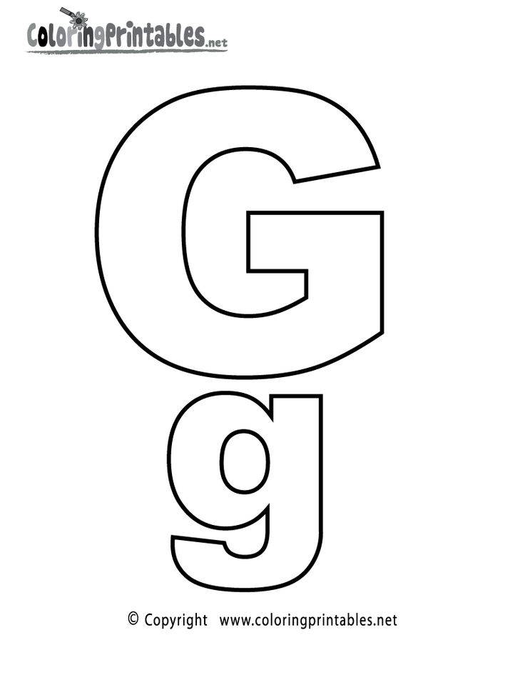 Letter g coloring pages preschoolers – Letter G Worksheets for Preschool