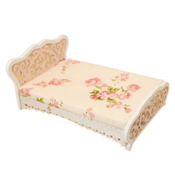 Find More Doll Houses Information about New 1/12 Dollhouse Miniature Furniture bedroom carved bed princess bed Pink,High Quality miniature dollhouse,China miniature bedroom furniture Suppliers, Cheap bedroom dollhouse from Beautiful Marie Store on Aliexpress.com
