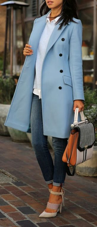 Blue Trench Coat ♥ L.O.V.E.
