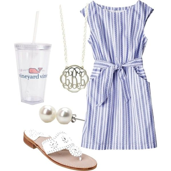Again, classic. Vineyard vines, pearl studs, Jack Rogers. The true prep: alternating Lilly with VV and keeping the accessories.