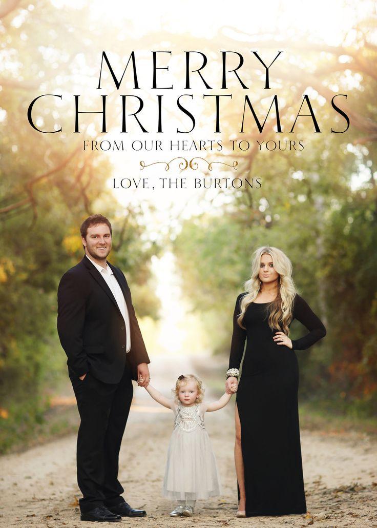 glam family christmas card shoot