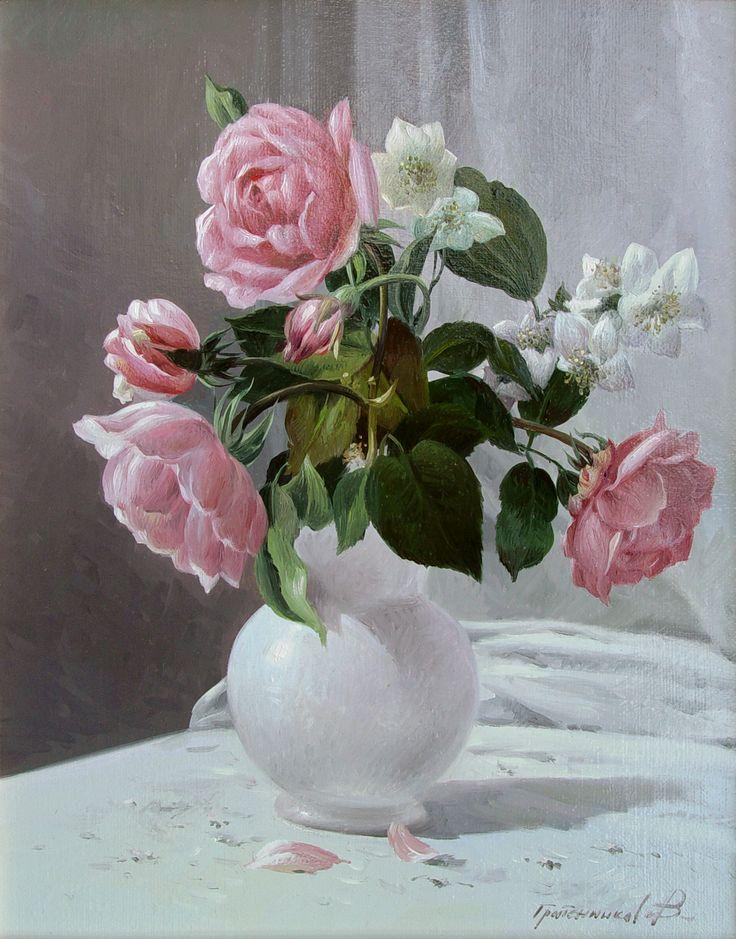 """Vasily Gribennikov """"Rose"""", 24*30, 2004"""