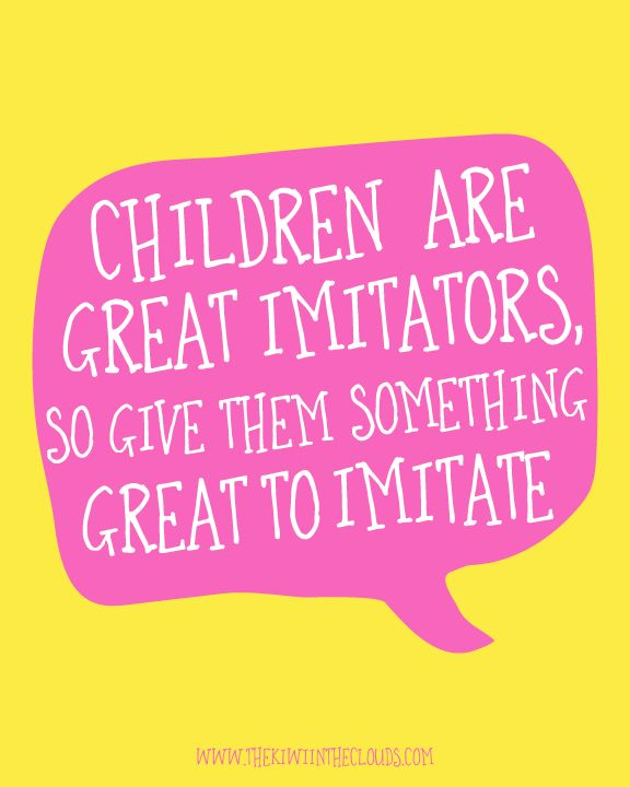 Children are great imitators   Click through to download your FREE 8x10 copy