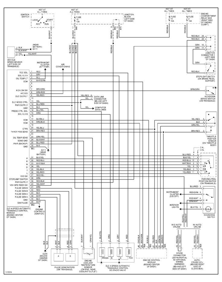 97 99awd In Transmission Wiring Diagram