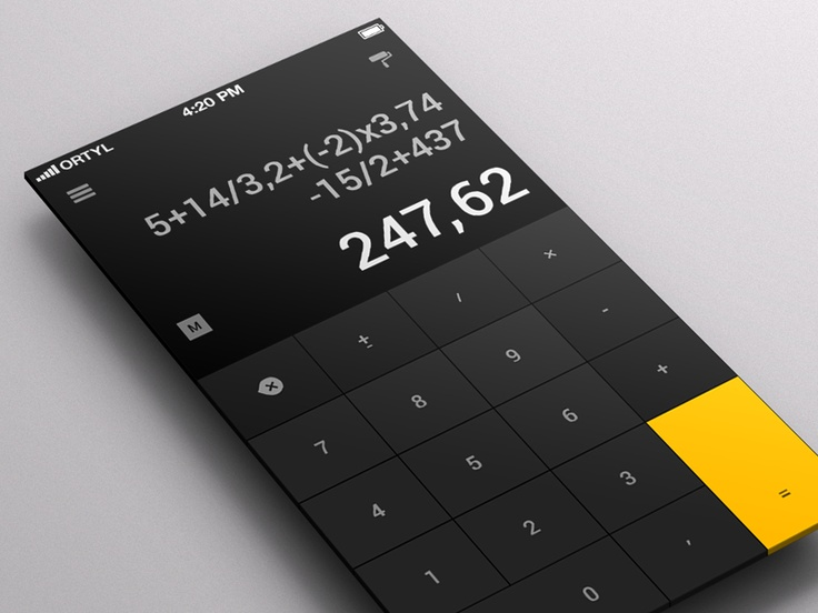 Calculator App for iOS - by Karol Ortyl | #ui