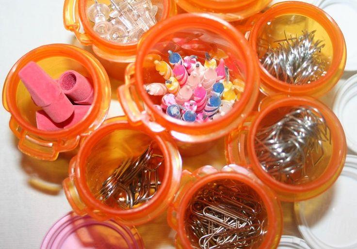 Practical ideas for reusing pill bottles