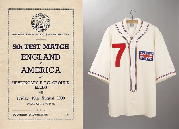 1938 World Champion British Baseball Team Jersey A surprising moment in sports history memorialized in a gorgeously-detailed reproduction