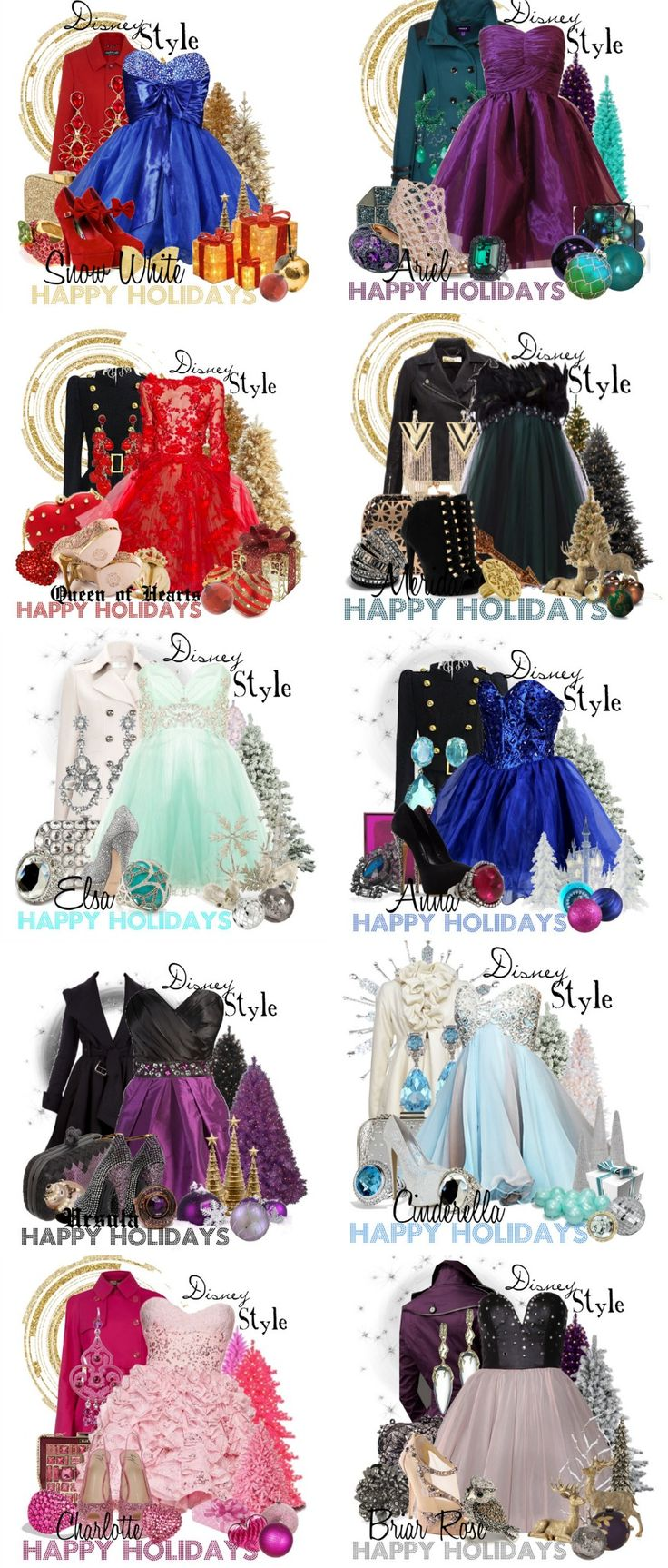 Babble Article featuring Disney Style by missm26 on polyvore 16 Festive Holiday Party Outfits Inspired by Disney Characters