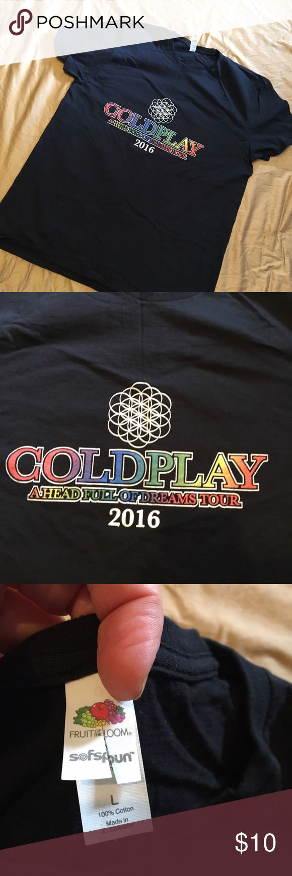Unofficial Coldplay concert tee Tour 2016. Make an offer! 30% off bundles of two or more! Fruit of the Loom Shirts Tees - Short Sleeve