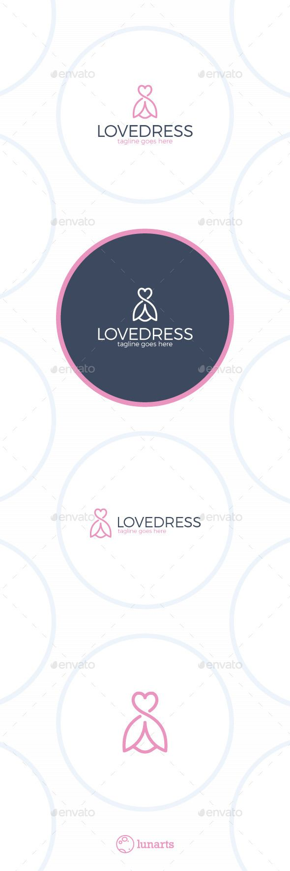 Love Dress Logo - Flower Line  #hanger #heart #Ladies Fashion • Available here → http://graphicriver.net/item/love-dress-logo-flower-line/12935981?s_rank=245&ref=pxcr