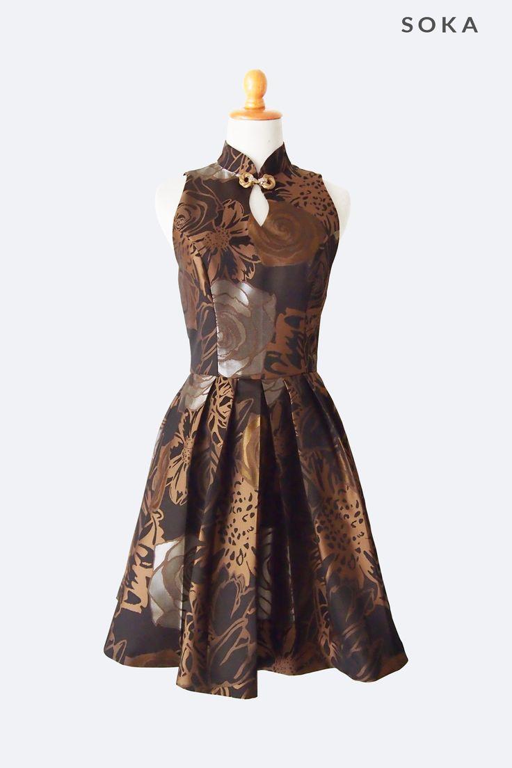 $150 Brown Elegant Cocktail Dress