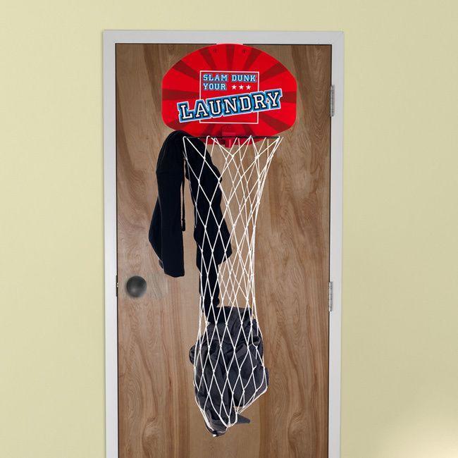 Trademark Slam Dunk Your Laundry Over the Door Basketball Hamper Net