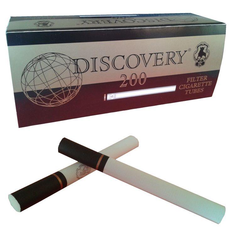 Tuburi tigari Discovery pentru injectat tutun Pretul este pentru 1 cutie cu 200 tuburi de tigari. Ambalaj: 200 tuburi tigari/cutie Culoare: filtru negru / foita alba