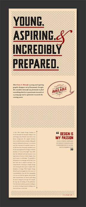 The CV Publication by Sean A. Metcalf, via Behance.. pretty creative and incredible.
