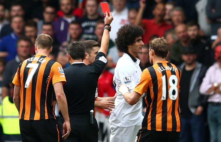 Louis van Gaal brands Marouane Fellaini 'stupid' after Hull red card | GiveMeSport