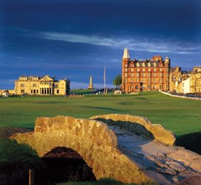 St. Andrews, Scotland - to play the old course at St. Andrews, where the game of golf was invented, is definitely on my bucket list!