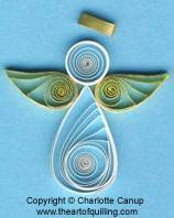 quilling christmas | Quilled Christmas Angel | Quilling | Free Craft Project