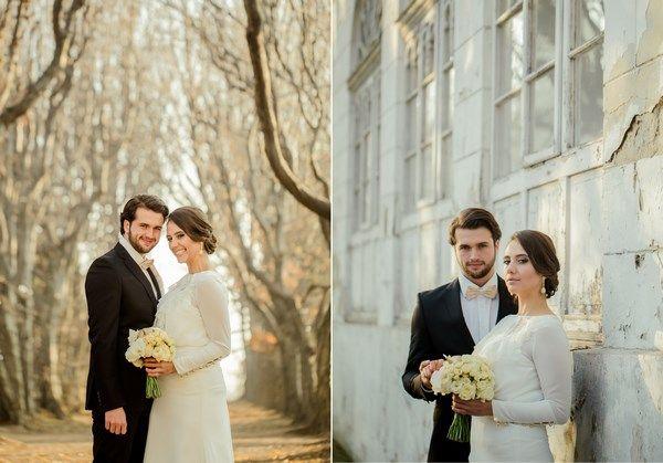 złota sesja ślubna, naturalne jesienne zdjęcia ślubne, złote dodatki