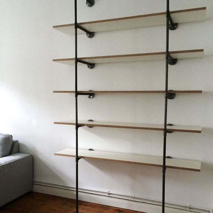 19 best steel pipe shelves stahlrohr regale images on. Black Bedroom Furniture Sets. Home Design Ideas