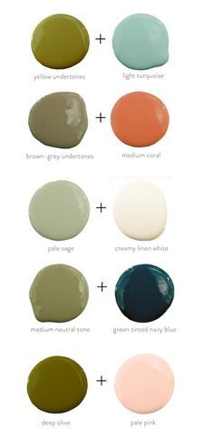 I Love These Interesting Color Combinations Colors That Pair Well With Olive Green Your Paint A Fun Tile For Unique Look