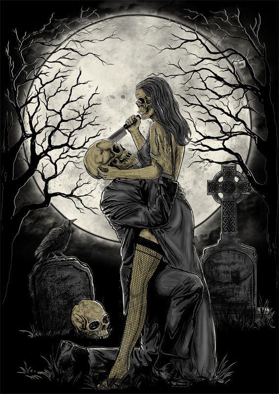 Skull Bride by bebehsurebeh.deviantart.com on @deviantART