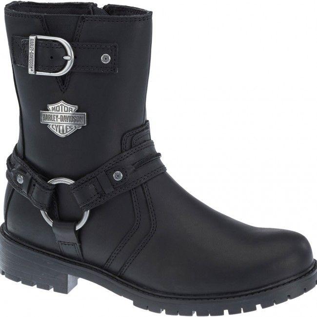 93351 Harley Davidson Men's Abner Motorcycle Boots - Black www.bootbay.com