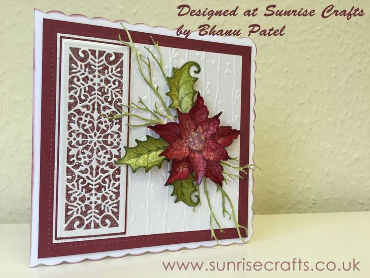 Heartfelt Creations Sparkling Poinsettia Card - sunrisecrafts.co.uk
