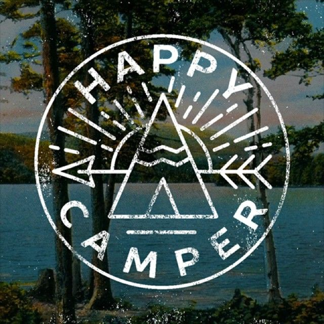 Happy camper decal patch