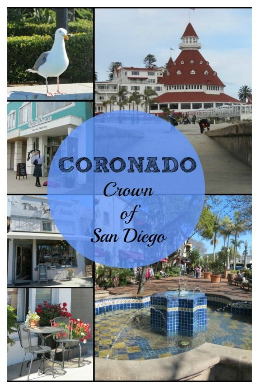Across the bay from downtown San Diego, CA is Coronado Island - an upscale community with shops, galleries, a gorgeous beach, and the famous Hotel Del Coronado!