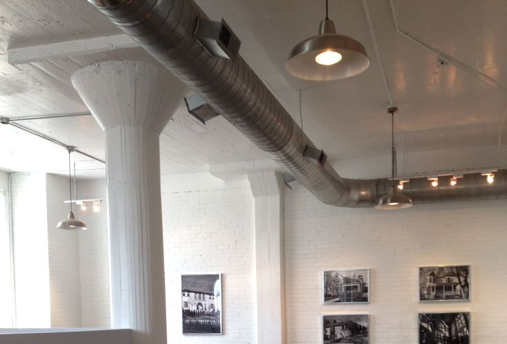 Exposed Ductwork And Industrial Lights Image Pool