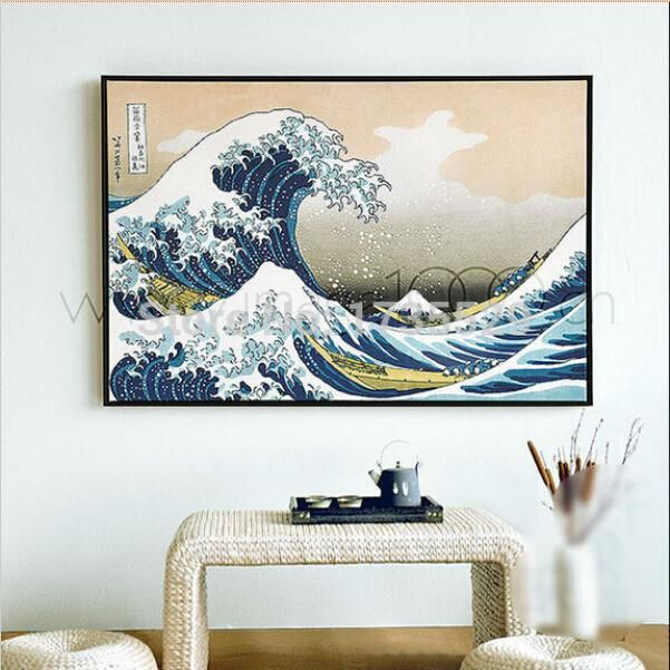 Painting Canvas Wall Art Picture Katsushika Hokusai The Great Wave At Kanagawa Home Decoration Livi Wall Art Pictures Living Room Canvas Prints Canvas Wall Art
