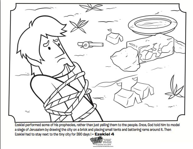 Kids Coloring Page From Whats In The Bible Featuring Story Of Ezekiel And