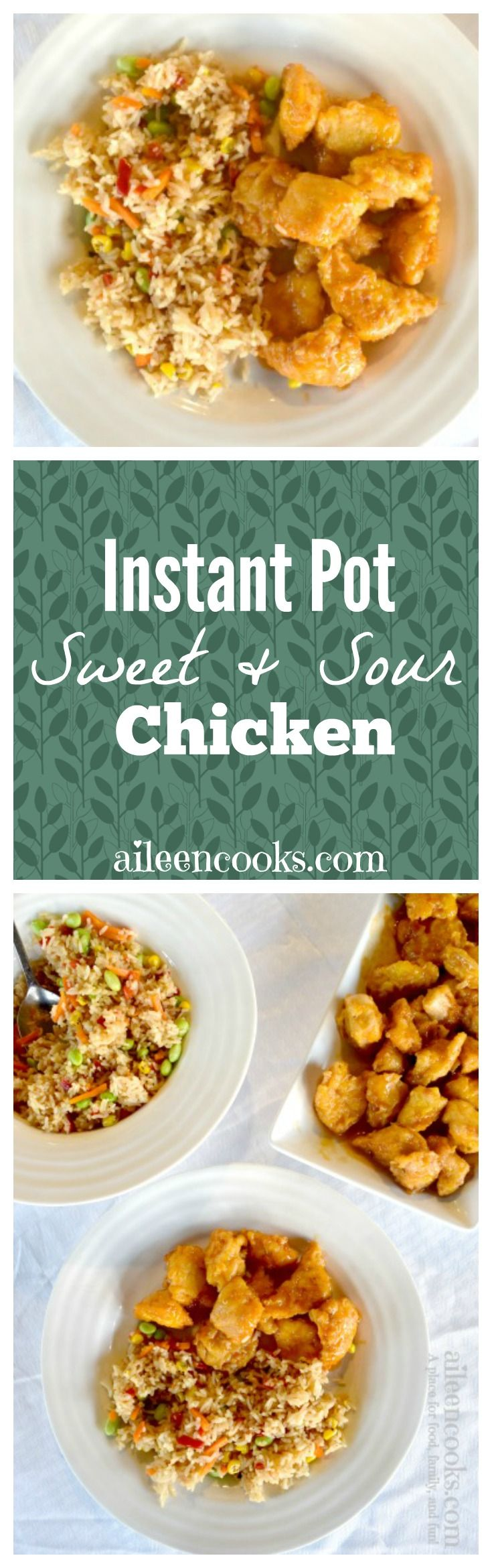 Enjoy delicious Chinese food at home with this recipe for Instant Pot Sweet and Sour Chicken. This recipe tastes just like take-out and it's ready just as fast, thanks to your handy pressure cooker. via @aileencooks