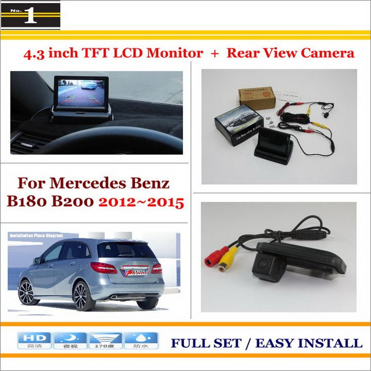 "For Mercedes Benz B180 B200 / Car Rearview Camera + 4.3"" LCD Screen Monitor = 2 in 1 Parking Assistance System"