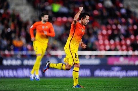 Xavi Hernández, FC Barcelona | Mallorca 2-4 FC Barcelona. >Celebrando grandiosa anotación.< 11.11.12.