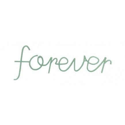 Big Forever Sign (aqua)