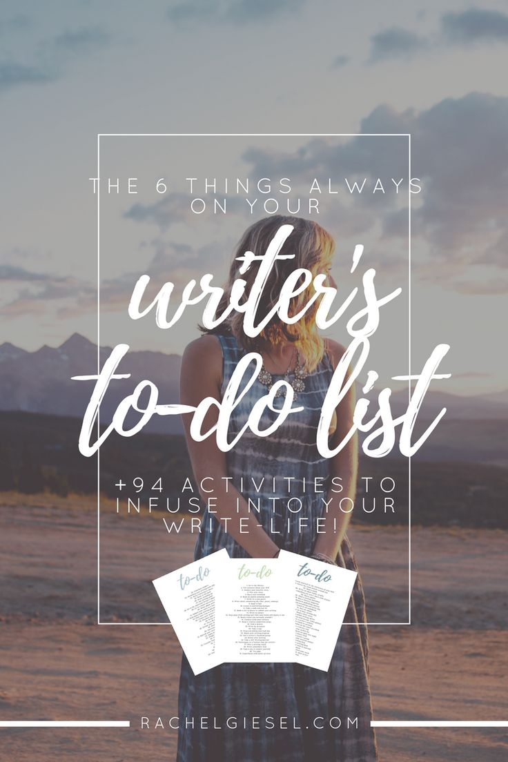 """""""I've found that there are six major categories of things that shouldalwaysbe on your writer's to-do list to balance out your writing practice: Reading, Experimentation, Wholehearted Writing Sessions, Intimate WIP Discovery, Engagement with the Literary Community, and Writerpreneurship Building."""" 