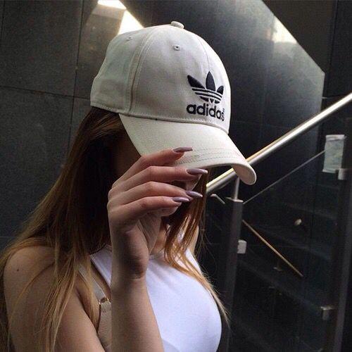Fashion - White & Black adidas Cap/Hat with White Top