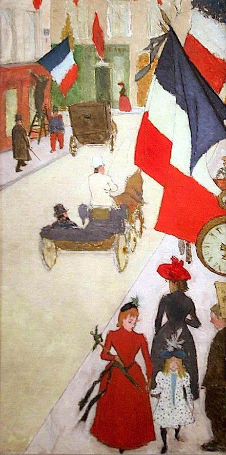 Paris, rue de Parme le 14 juillet • Pierre Bonnard