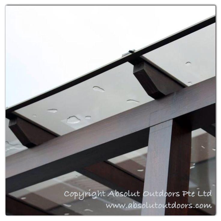 Polycarbonate roof on trellis