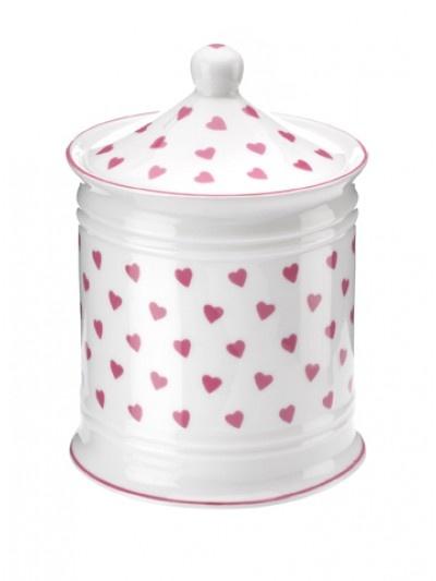 Nina Campbell Pink Hearts Bathroom Jar.