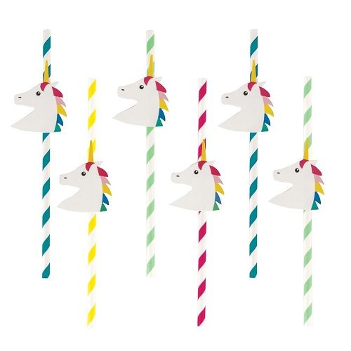 Unicorn Party Straws By My Little Day - Unicorn Party Supplies UK