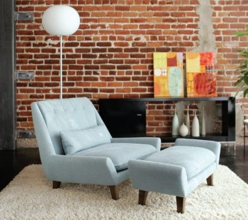 living room with brick wallpaper raise textured brick wallpaper is back eclectic home 22953