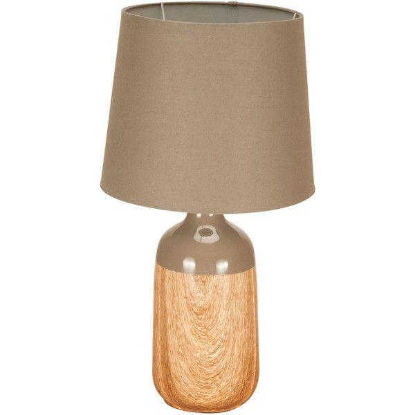 Asztali lámpa szürkésbarna 52 cm SCANDINAVIAN LOVE via Polyvore featuring home, home decor and scandinavian home decor