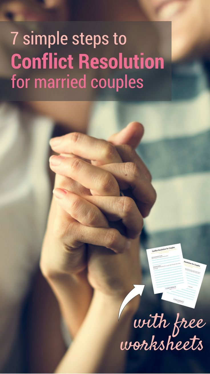 Conflict Resolution In Marriage With Printable Worksheet