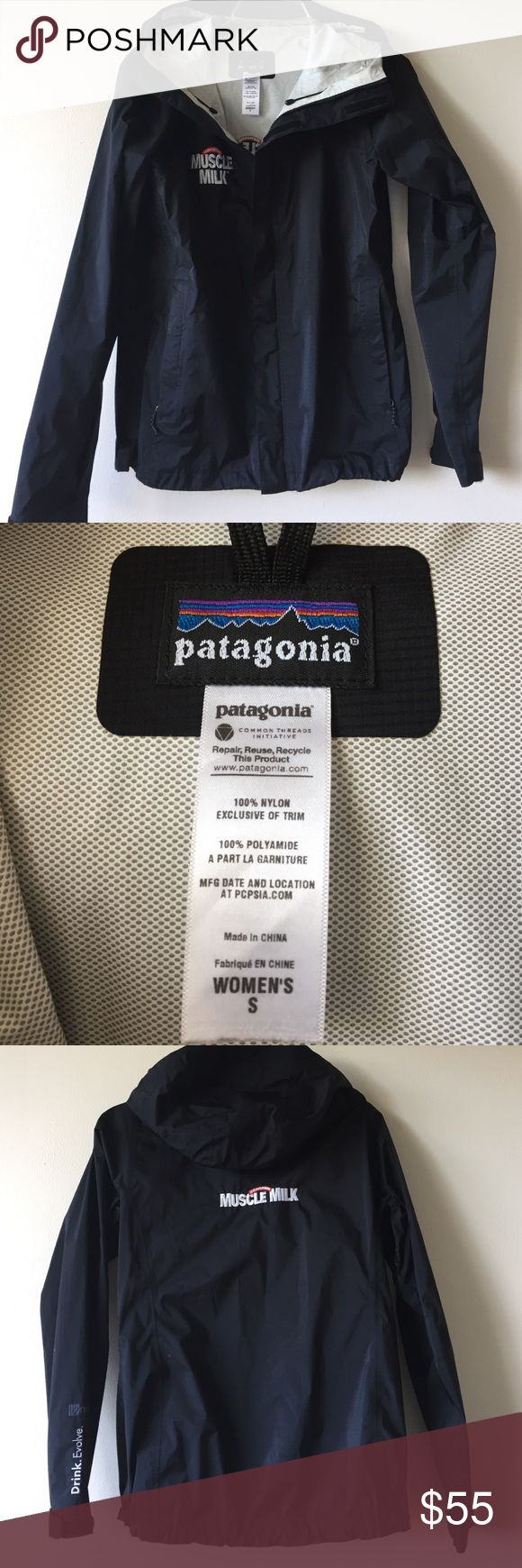 Patagonia Parka with Muscle Milk™ Logo This was a promotional shell jacket by Patagonia for Muscle Milk®. Lightweight jacket is in nearly new condition. Embroidered logo on right breast and on back. Two front zip pockets. Velcro and zip front closure. Interior slip pocket for cell phone. Elastic waist tightener. 🚫No trades🚫 Patagonia Jackets & Coats Utility Jackets