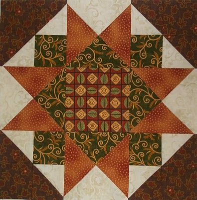 Chock-A-Block Quilt Blocks: Morning Star Variation