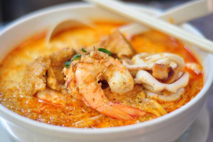 Combination seafood laksa at Temasek, Parramatta.