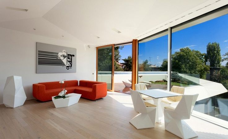 minimalistischen Wohnzimmer Interior Design in der Home Spa Verlängerung Entspannung und Verjüngung Attraktor von architekti.sk